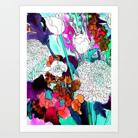 forest flowers 3 Art Print