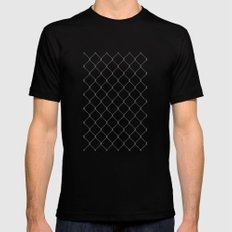 Wire Fence Mens Fitted Tee Black MEDIUM