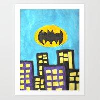 bat Art Prints featuring Bat by Marialaura