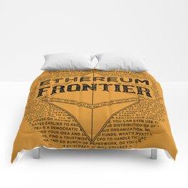 Ethereum Frontier (black on orange) Comforters