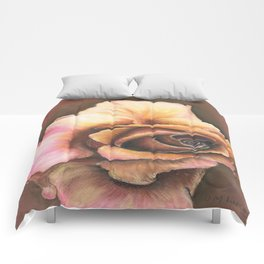 Earth Tone Rose Comforters
