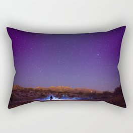 Exploring the night Rectangular Pillow