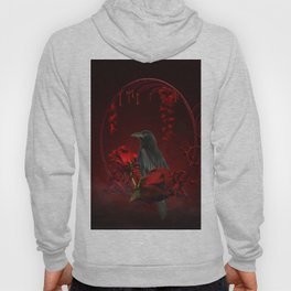 Wonderful crow with roses Hoody