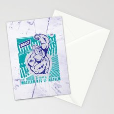 Mayhem Ape (Teal on Gun Metal) Stationery Cards