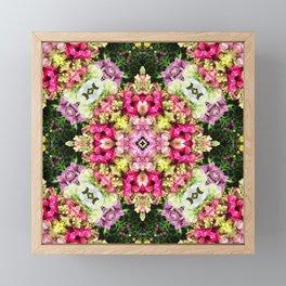Floral gathering holistic inspirational Mandela Framed Mini Art Print