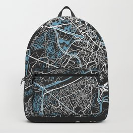 GHENT Map Belgium | Black - More Colors, Review My Collections Backpack