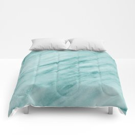Audace Turchese green marble Comforters