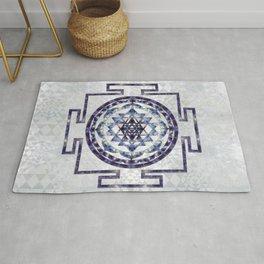 Sri Yantra  / Sri Chakra Gemstone and pearl Rug