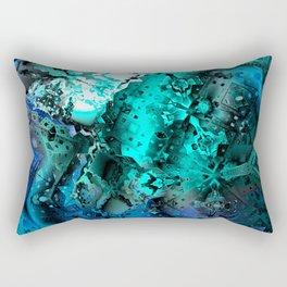Escape the Hive (aqua blue) Rectangular Pillow