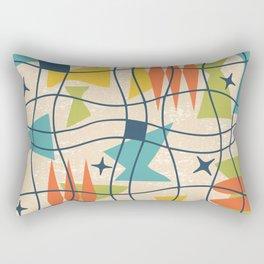 Mid Century Modern Abstract Pattern 761 Rectangular Pillow