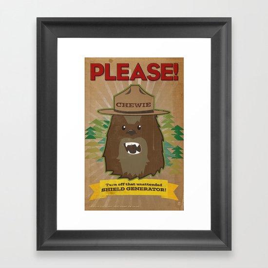 Chewie says... Framed Art Print