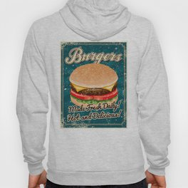 Retro Hamburger Sign Hoody