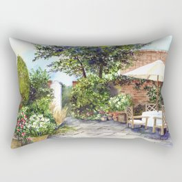 Terrace of The Manor House Rectangular Pillow