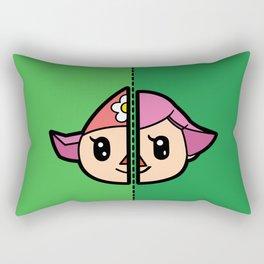 Old & New Animal Crossing Villager Female Rectangular Pillow