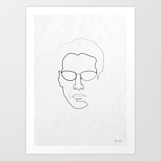 One line Neo Art Print