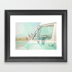 Retro Drive Framed Art Print