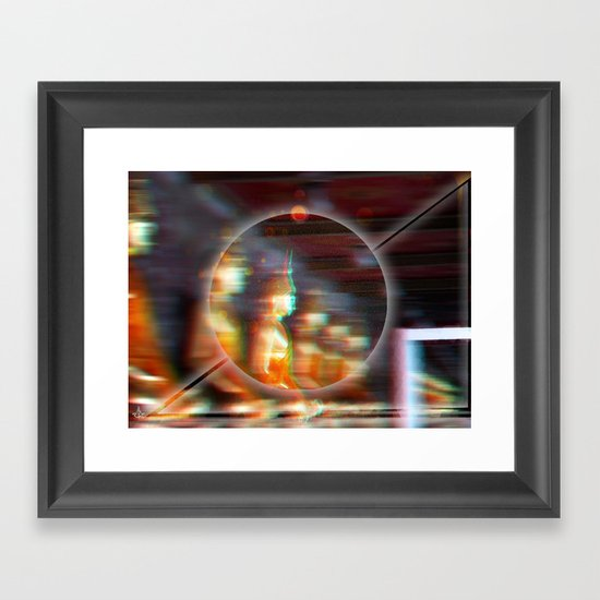 °Raumzeit^ Framed Art Print