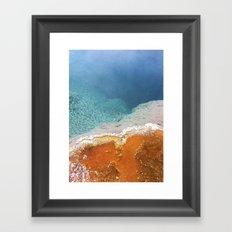 Hot springs Framed Art Print