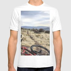 Close to home White MEDIUM Mens Fitted Tee