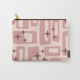 Retro Mid Century Modern Abstract Pattern 577 Dusty Rose Carry-All Pouch