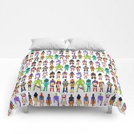 Superhero Butts - Power Couple on Violet Comforters