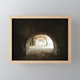 Fort Pickens Structure Framed Mini Art Print