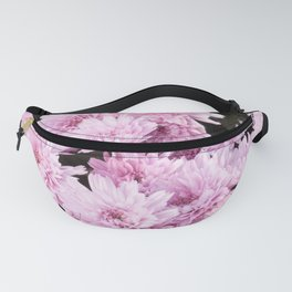 A Sea of Light Pink Chrysanthemums #1 #floral #art #Society6 Fanny Pack