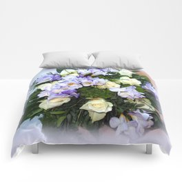 Roses and Freesias Comforters