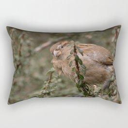 Little sparrow in the tress Rectangular Pillow