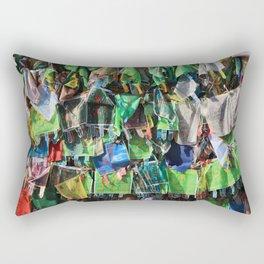 A lot of cloth shawls Rectangular Pillow