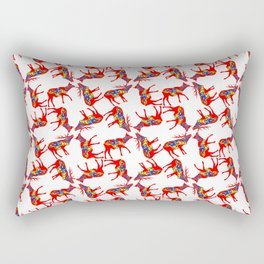 Graphic Dala Elk Pair Multiples Rectangular Pillow