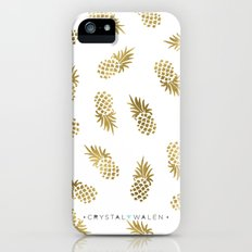Gold Pineapples Slim Case iPhone SE