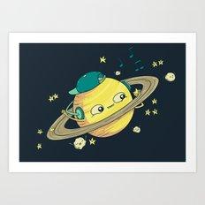 DJ Saturn Art Print