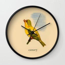 Cute Canary Painting Wall Clock