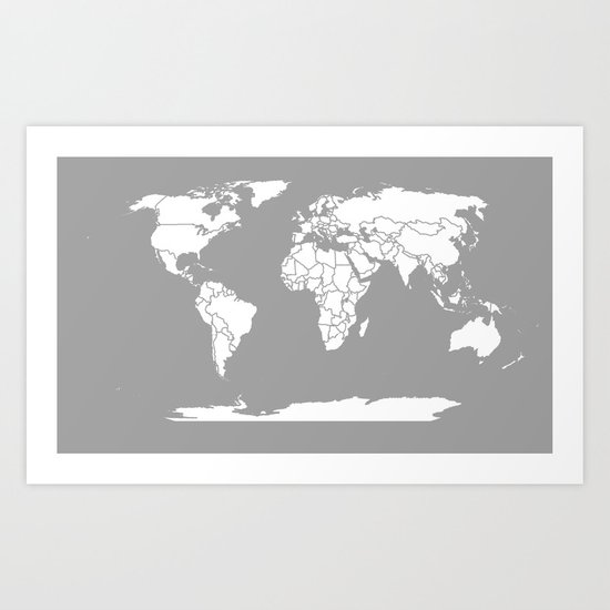 A Political Map of the World Art Print