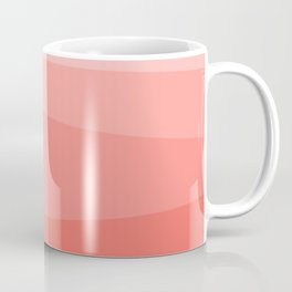 Diagonal Living Coral Gradient Coffee Mug