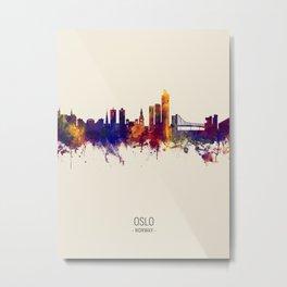 Oslo Norway Skyline Metal Print