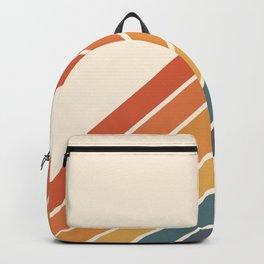 Arida -  70s Summer Style Retro Stripes Backpack