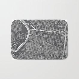 Center City Philadelphia Map Bath Mat