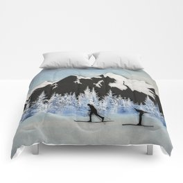 Cross Country Skiing Comforters