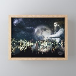 Saving space Framed Mini Art Print