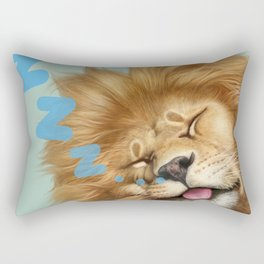 Sleeping Lion Rectangular Pillow