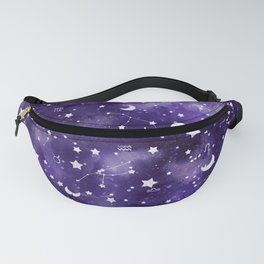 Zodiac Watercolor Ultraviolet Fanny Pack