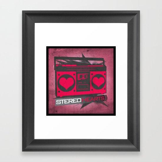 Stereo Hearts Framed Art Print