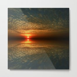 Last Sunset with a Friend Metal Print