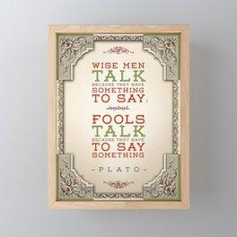 Plato regarding talking Framed Mini Art Print