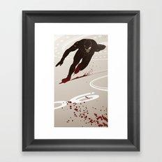 Bloody Skating - The Runner Up Framed Art Print