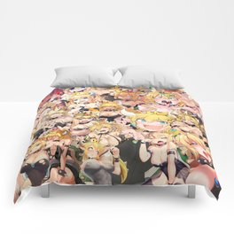 Bowsette Manga Anime Girls Collage in Colour Comforters