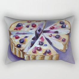 Desert, cake, food, original oil painting Rectangular Pillow