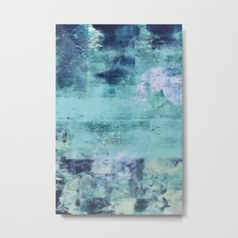 012.3: a bright contemporary abstract piece in teal and lavender by Alyssa Hamilton Art  Metal Print